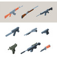 soldiers guns isometric weapons automatic arms vector image vector image