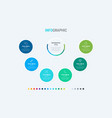timeline infographic design 6 options vector image vector image