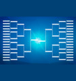 tournament bracket template for 32 teams on blue vector image vector image