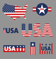 USA labels sign tag set vector image vector image