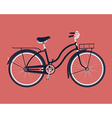 Vintage Bike Icon vector image