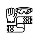 winter accessories line icon vector image