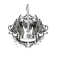 guitar with wings and patterns vector image