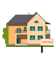 real estate and home for sale concept vector image