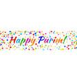 purim banner carnival paper confetti background vector image