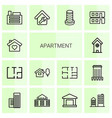 14 apartment icons vector image vector image