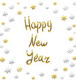 2016 Happy New Year gold card greeting decoration vector image