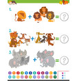 addition maths activity for kids vector image vector image