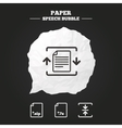 Archive file compressed zipped document vector image vector image