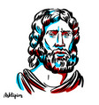 asclepius portrait vector image vector image