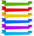 banner ribbon templates in dynamic style 6 colors vector image vector image