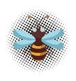 bee pop art cartoon