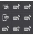 black credit card icons set vector image vector image