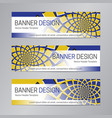 blue yellow banner design web header template vector image