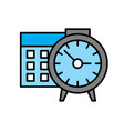 business calendar icon on white background for vector image