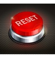 Button reset vector image vector image