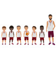 cartoon flat school boys basketball kids vector image vector image
