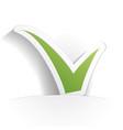 check icon paper vector image vector image