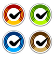 colored checkmark stickers vector image vector image