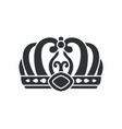 crown in futuristic style with complicated design vector image vector image