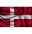 crumpled flag denmark on a light background vector image vector image