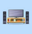 design tv zone in a flat style interior living vector image vector image