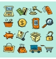 E-commerce color icons set vector image vector image