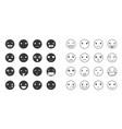 emoticon in various mood vector image