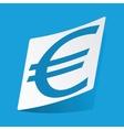 Euro sticker vector image vector image