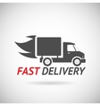 Fast Delivery Symbol Shipping Truck Silhouette vector image vector image