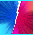 fight comics style backgrounds with lightning vector image