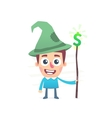 Financial wizard vector image