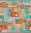 flat cityscape seamless pattern vector image vector image