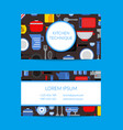 flat style kitchen utensils card template vector image