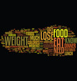 food lose weight increase your knowledge about vector image vector image