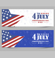 fourth july independence day usa star vector image vector image