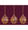 French New Year elements for years 2016-2018 vector image