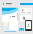 fridge business logo file cover visiting card and vector image vector image