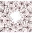 Geranium flowers frame engraving vector image vector image