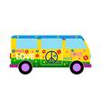 Hippie minibus icon vector image vector image