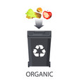 icon trash box for organic waste color banner vector image