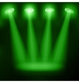 Illuminated stage podium for award ceremony vector image
