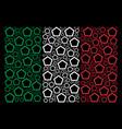 italian flag pattern of contour pentagon items vector image