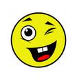 joyful smiley on a white background vector image vector image