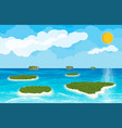 landscape of islands and beach vector image