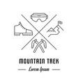 line banner mountain trek vector image vector image