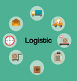 logistic service set icons vector image