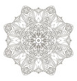 mandala round oriental pattern doodle drawing vector image vector image