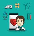 medicine online flat icons vector image