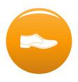 men shoe icon orange vector image vector image